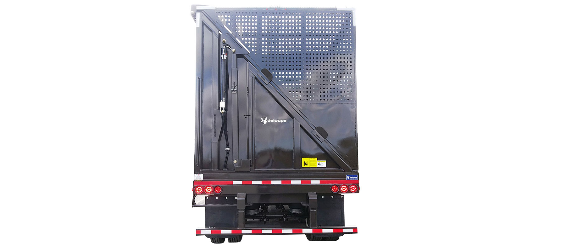 Custom crushed car semi-trailer