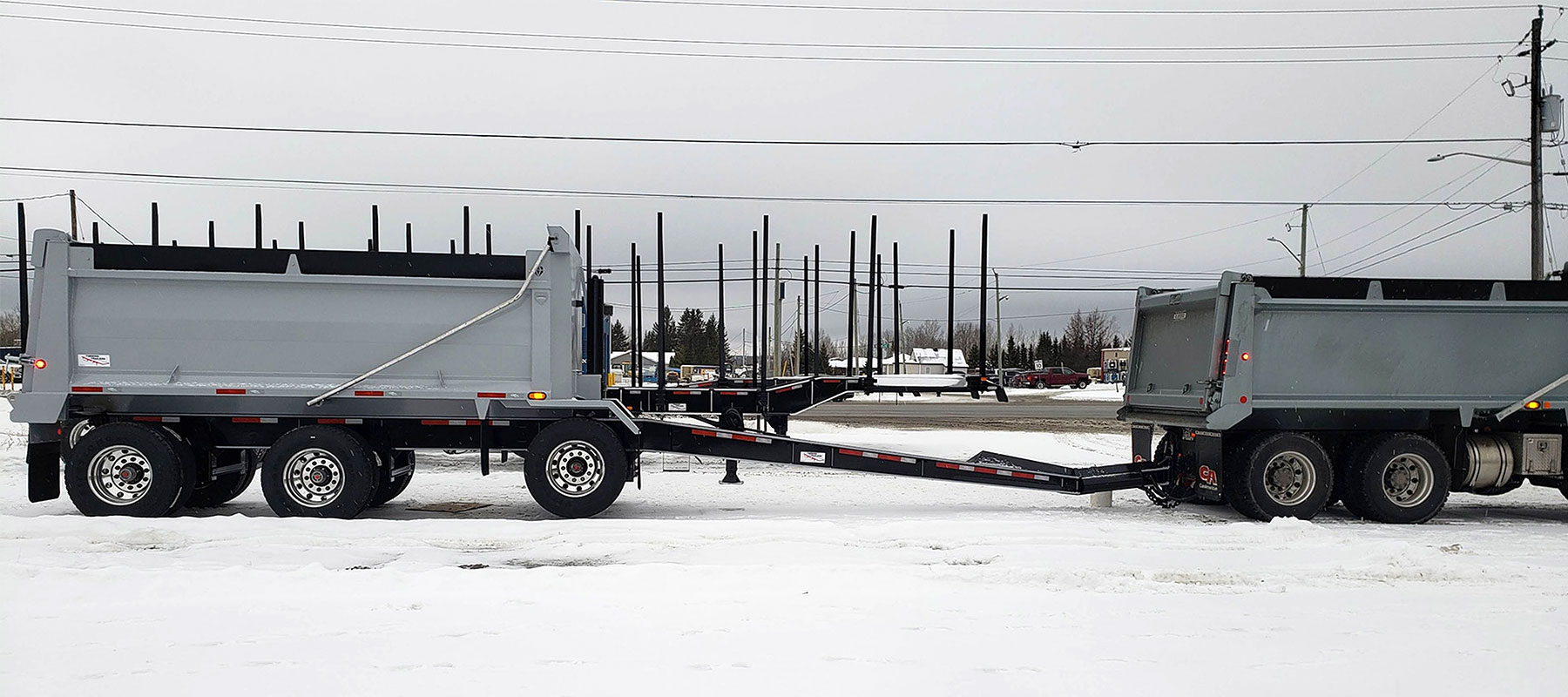 Timmins gravel pup : custom semi-trailers