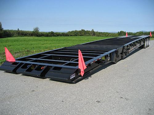 Platform scissor-neck trailer